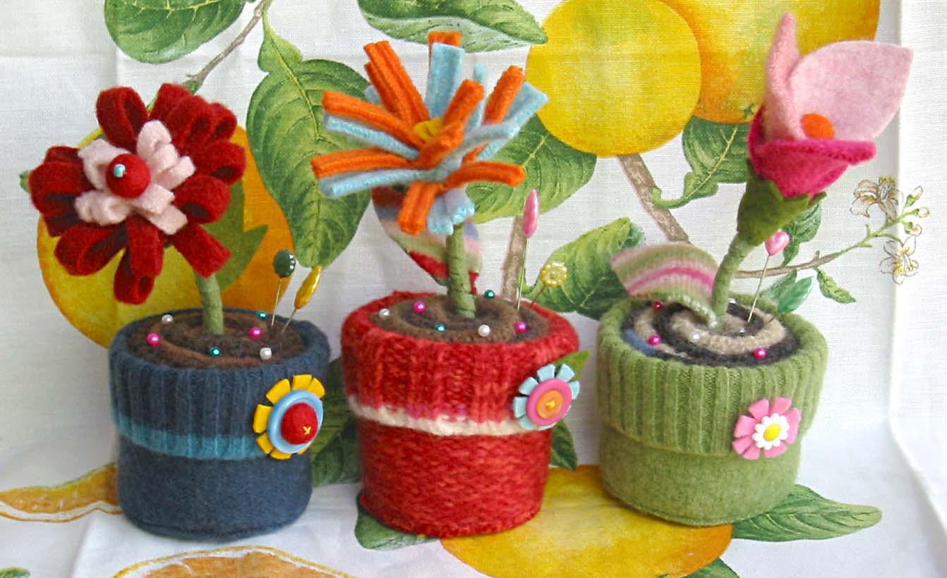 Цветы в горшках картинки нарисованные 6
